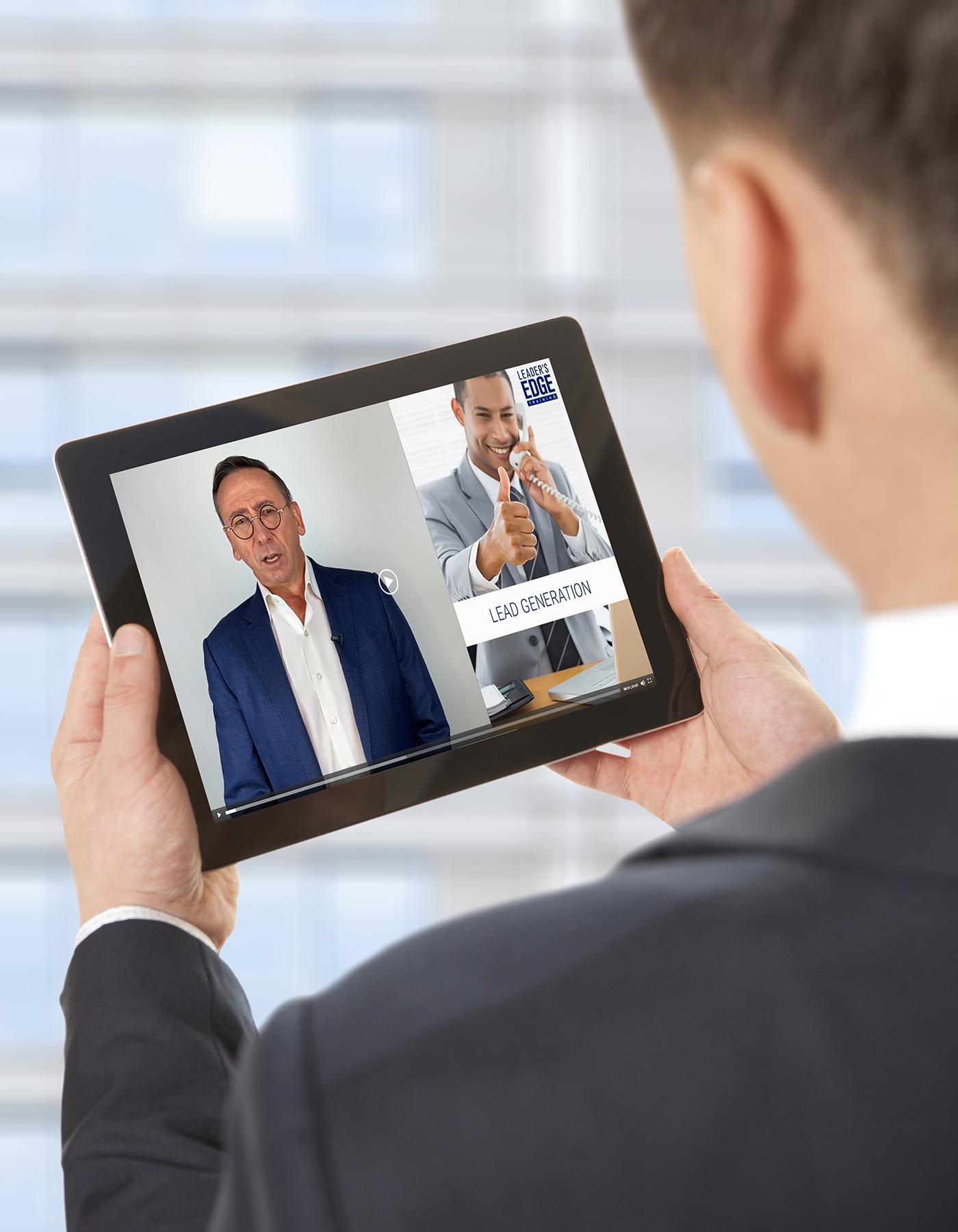 Leader's Edge VT on a tablet